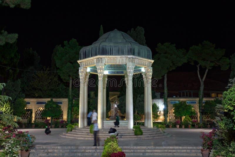 Tombe de Hafez la nuit, Chiraz, Iran images stock