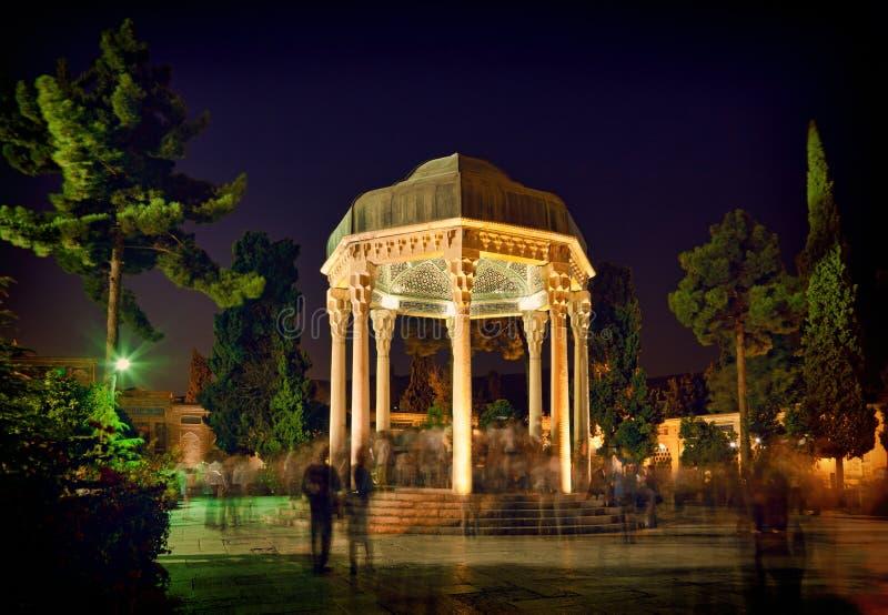 Tombe de Hafezieh de Hafez à Chiraz photographie stock libre de droits