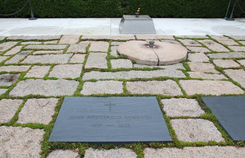Tombe de John F. Kennedy photographie stock