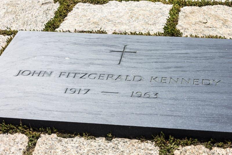 Tombe de John Fitzgerald Kennedy photos libres de droits