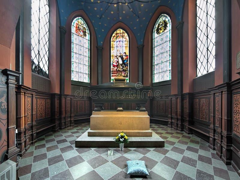 Tombe de Karin Mansdotter, une reine de la Suède, dans la cathédrale de Turku, la Finlande images stock