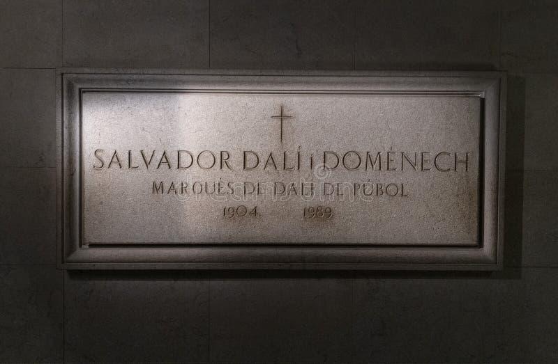 Tombe de l'artiste surréaliste Salvadore Dali à Figueres photo stock