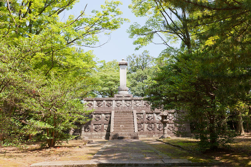 Tombe de Maeda Toshinaga à Takaoka, Japon images stock