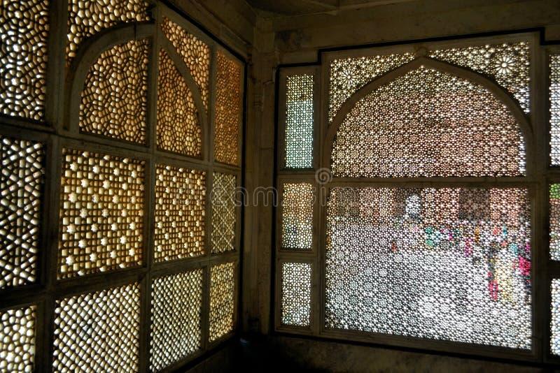 Tombe de marbre musulmane de shaikh de Mughal, Fatehpur photographie stock