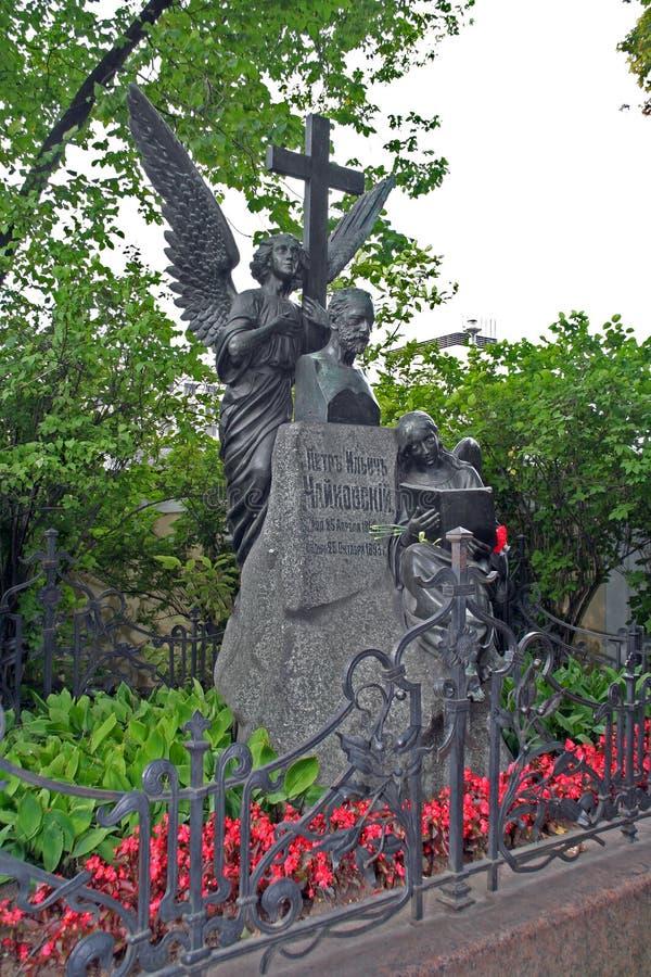Tombe de Piotr Ilyitch Tchaikovsky images libres de droits