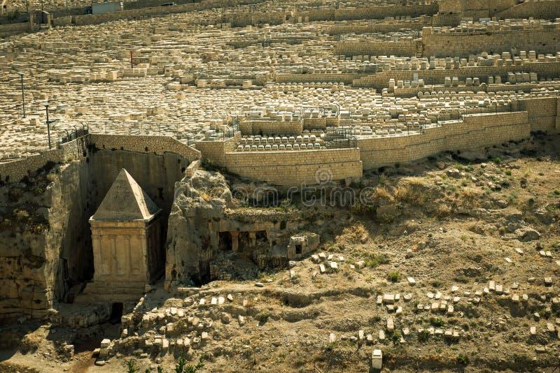Tombe de prophète Zechariah, Jérusalem images libres de droits
