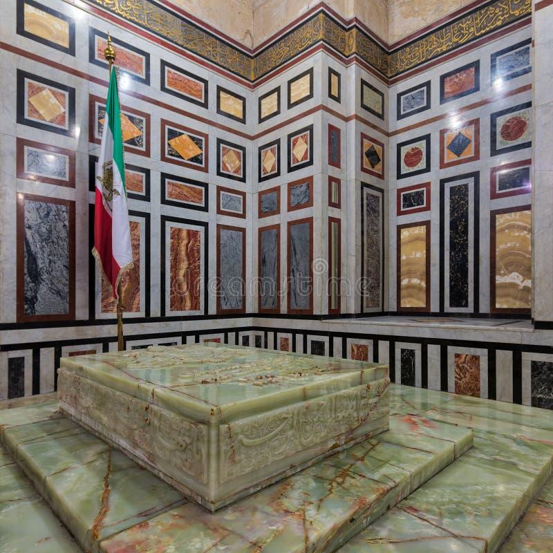 Tombe de Reza Shah de l'Iran, Al Rifaii Mosque Royal Mosque, le Caire, Egypte images libres de droits
