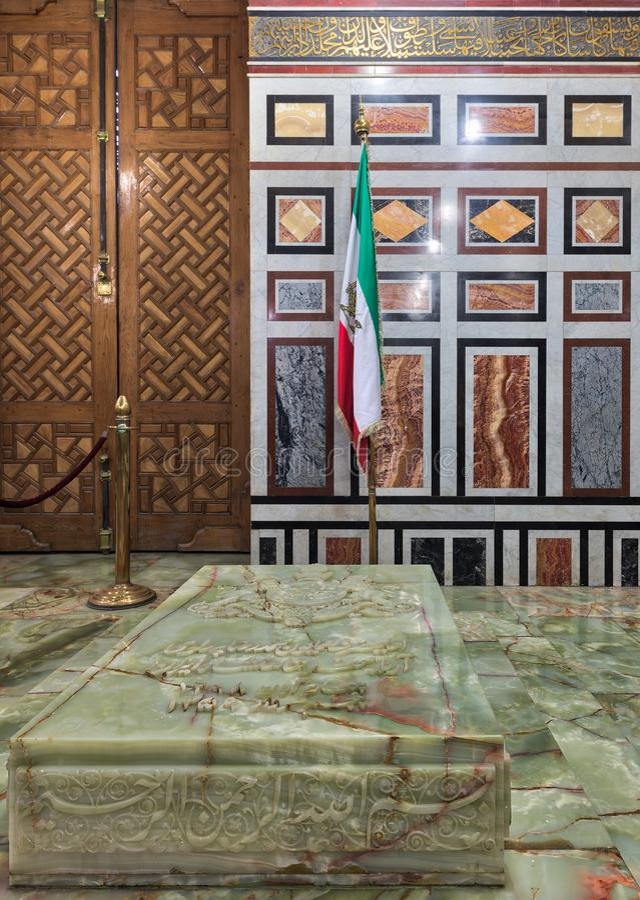 Tombe de Reza Shah de l'Iran, Al Rifaii Mosque Royal Mosque, le Caire, Egypte image stock
