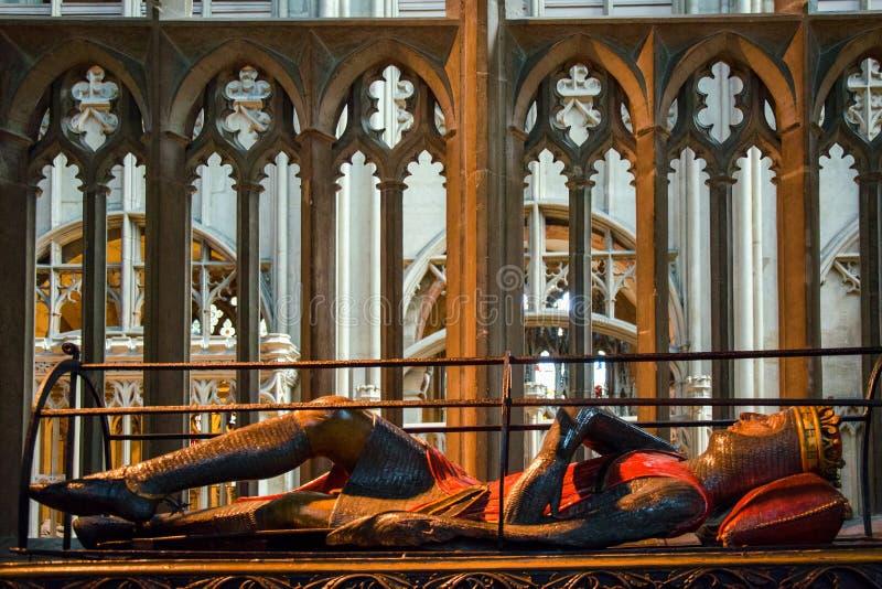 Tombe de Robert, duc de la Normandie, dans la cathédrale de Gloucester images libres de droits