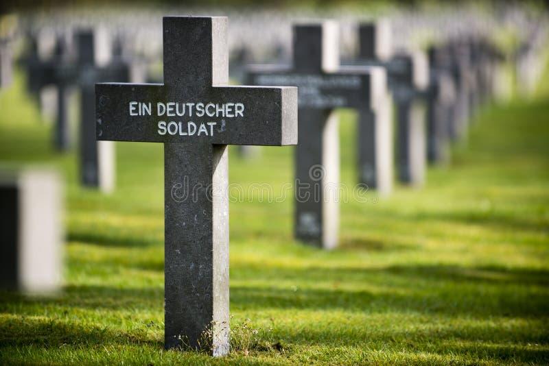 Tombe de soldat allemand inconnu image libre de droits