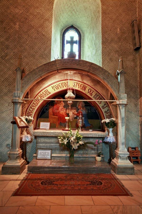 Tombe de Stephen le grand dans le monastère de Putna image stock