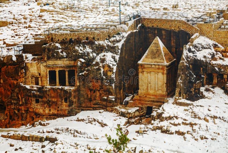 Tombe de Zechariah à Jérusalem photo libre de droits
