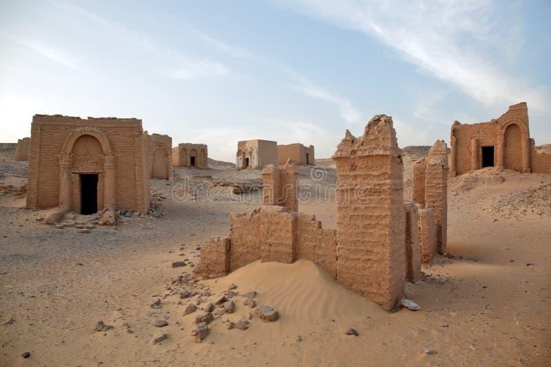 Tombe del EL-Bagawat di Al-Bagawat, Egitto fotografie stock libere da diritti