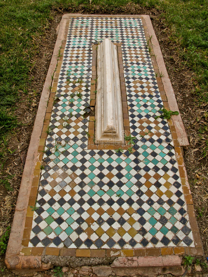 Tombe Del Mosaico Di Saadian A Marrakesh. Immagine Stock