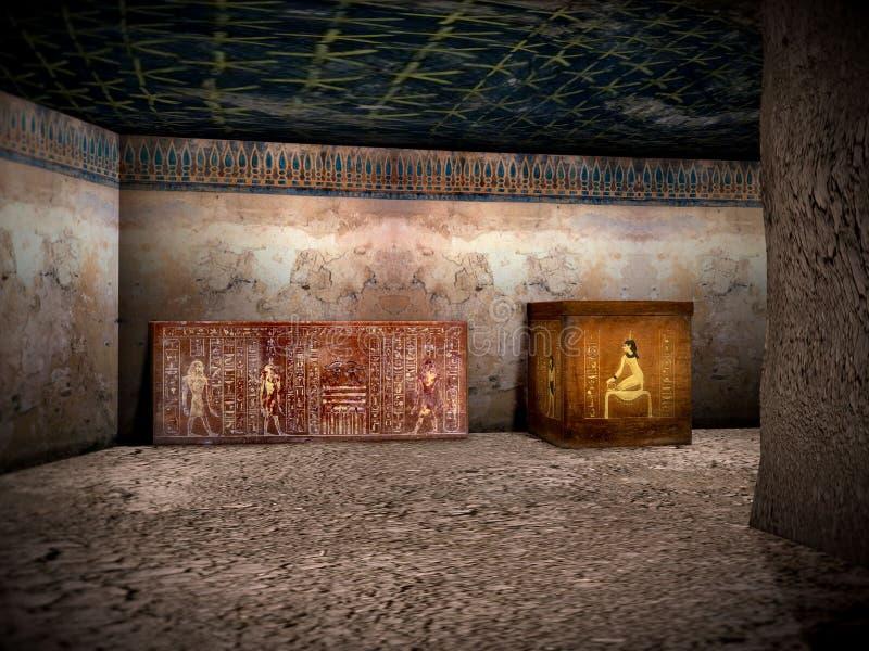 Tombe dell'Egitto 2 fotografia stock libera da diritti