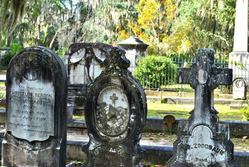 Tombe di Bonaventure Cemetery fotografia stock libera da diritti