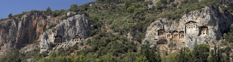 Tombe di Dalyan, Turchia fotografie stock libere da diritti