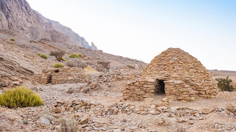 Tombe di Jebel Hafeet fotografie stock libere da diritti