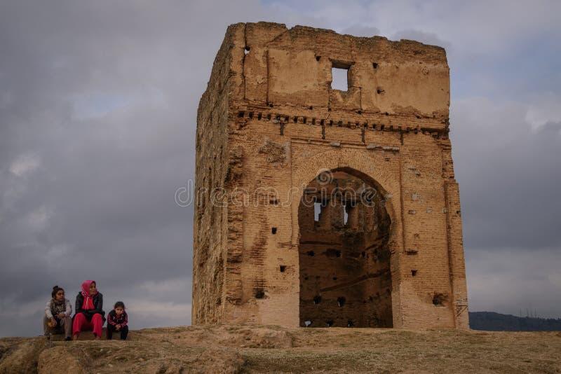 Tombe di Marinid a Fes morocco fotografie stock libere da diritti