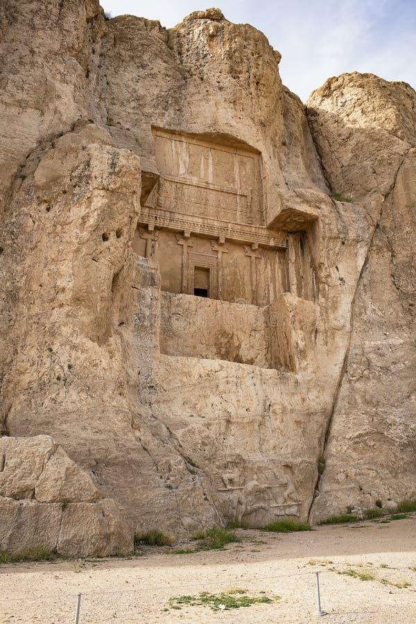 Tombe di re nella città di Persepolis, Persia antica, Iran Eredità dell'Unesco fotografia stock