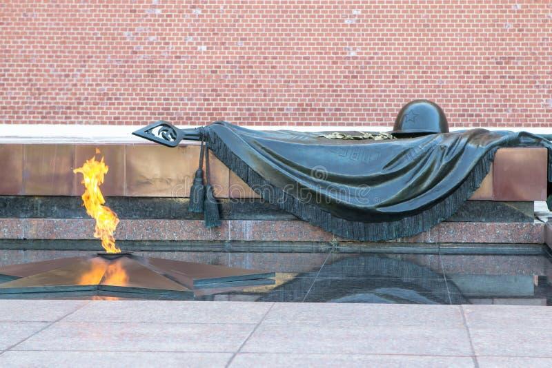 Tombe du soldat inconnu à Moscou, Russie photographie stock