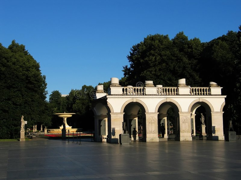 Tombe du soldat inconnu (Varsovie) images libres de droits