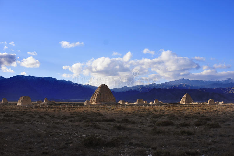 Tombe imperiali occidentali di Xia fotografia stock libera da diritti