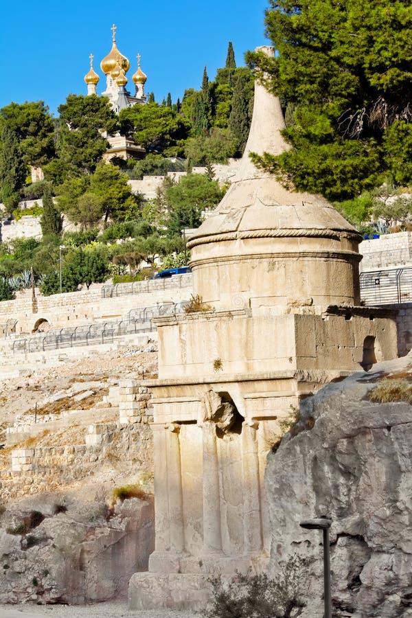 Tombeau d'Absalom sur le support des olives photographie stock libre de droits