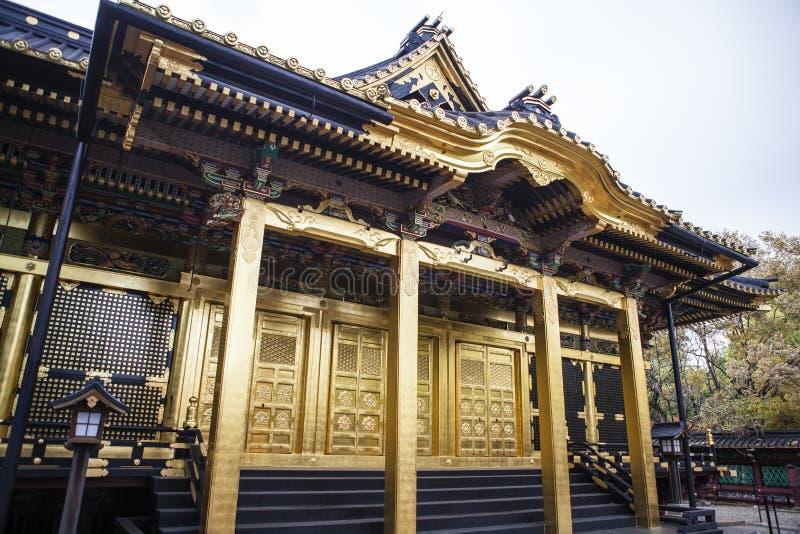 Tombeau d'or de Toshogu en parc d'Ueno, Tokyo - Japon photos libres de droits