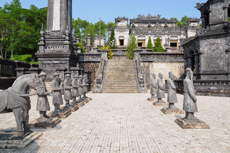 Tombeau d'empereur Khai Dinh images stock