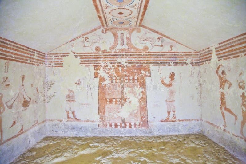 Tombeau d'Etruscan photo libre de droits