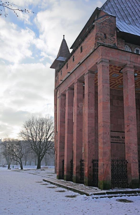Tombeau d'Immanuel Kant à Kaliningrad image libre de droits