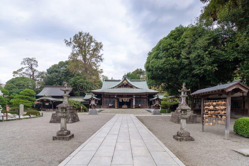 Tombeau dans le jardin de Suizenji Jojuen chez Kumamoto, Japon photo libre de droits