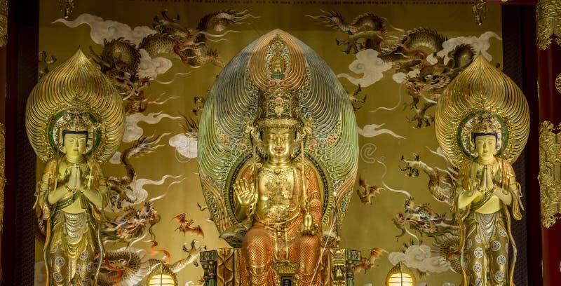 Tombeau dans le temple de relique de dent de Bouddha et le musée, Singapour images libres de droits