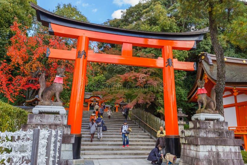 Tombeau de Fushimi Inari-taisha à Kyoto photographie stock libre de droits