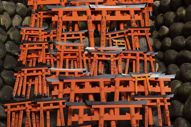 Tombeau de Fushimi Inari Taisha, Kyoto, Japon image libre de droits
