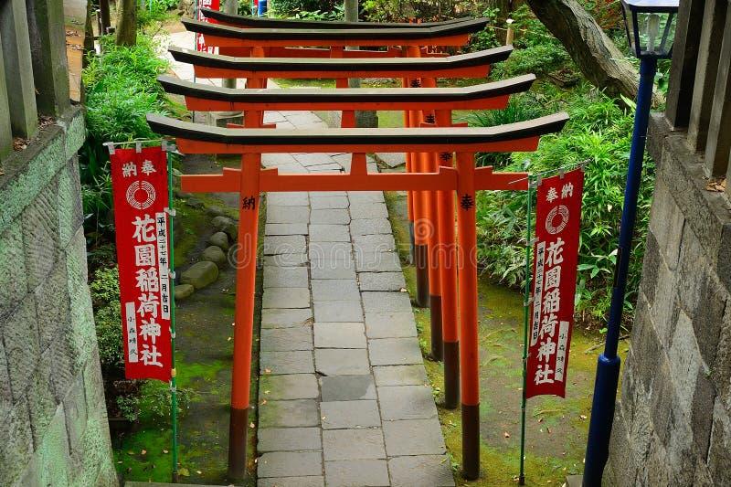 Tombeau de Gojo Tenjin Shinto en parc d'Ueno, Tokyo, Japon photo stock