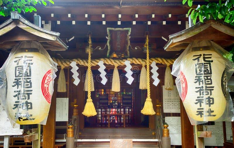 Tombeau de Gojo Tenjin Shinto en parc d'Ueno, Tokyo, Japon images stock