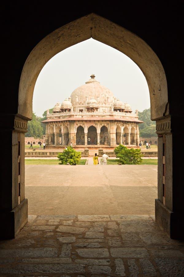 Tombeau de Humayun, Inde. photo libre de droits