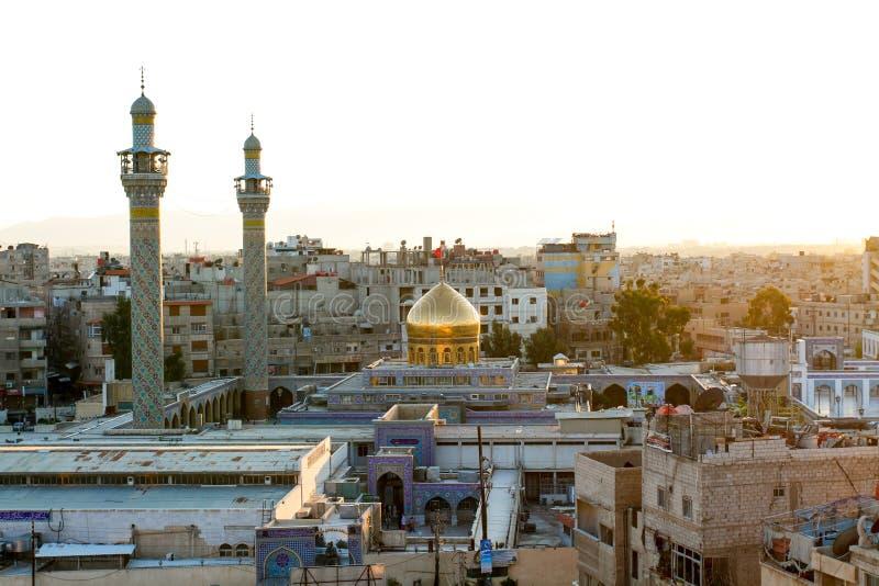 Tombeau de Sayeda Zeinab en Syrie photos stock