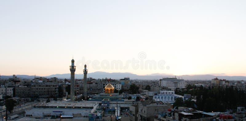 Tombeau de Sayeda Zeinab en Syrie image stock