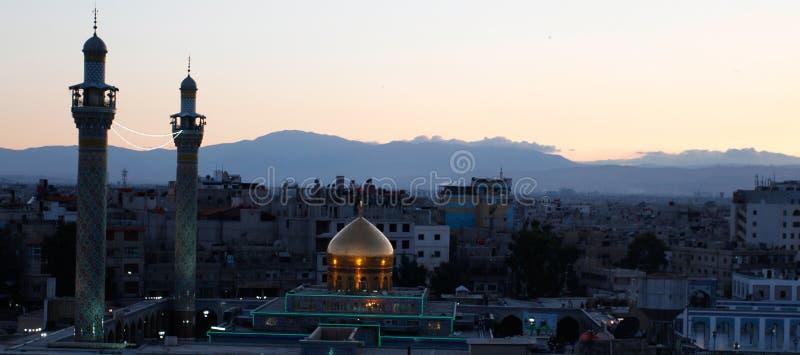 Tombeau de Sayeda Zeinab en Syrie photos libres de droits