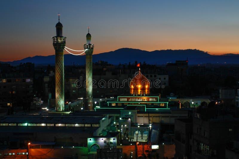 Tombeau de Sayeda Zeinab en Syrie photo libre de droits