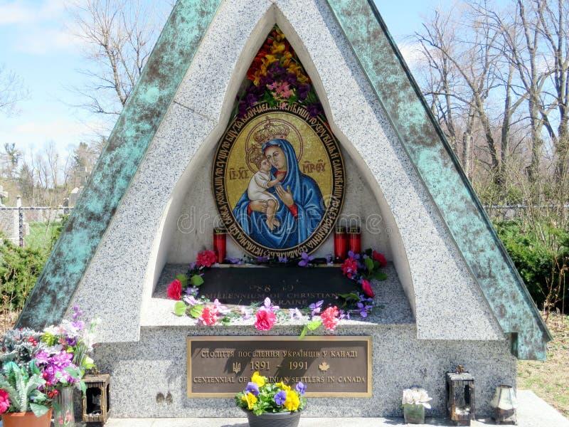 Tombeau de Thornhill du centennial des colons ukrainiens dans le Canada photos stock