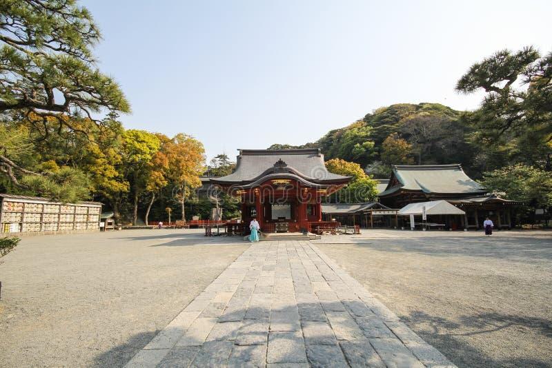 Tombeau de Tsurugaoka Hachimangu, Kamakura, Japon images stock
