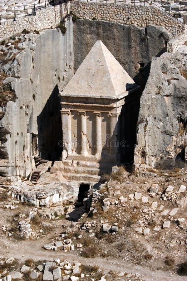 Tombeau de Zechariah dans le support des olives photo stock