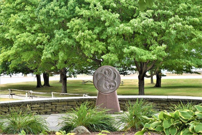 Tombeau du ` s de St Anne, La Motte d'île, le comté d'Island grand, Vermont, Etats-Unis USA Région de Champlain de lac images stock