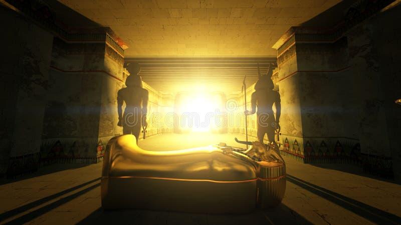 Tombeaux égyptiens illustration libre de droits