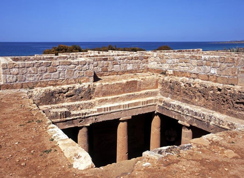 Tombeaux des rois, Chypre. image stock