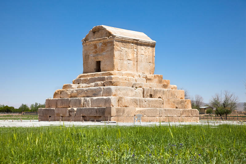 Tomben av Cyrus, Iran arkivbilder
